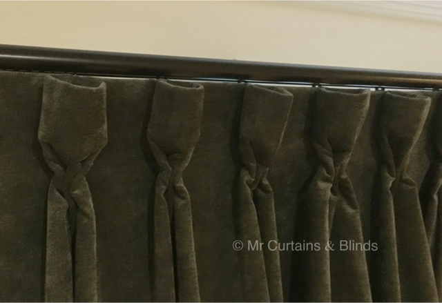 Goblet pleat curtains