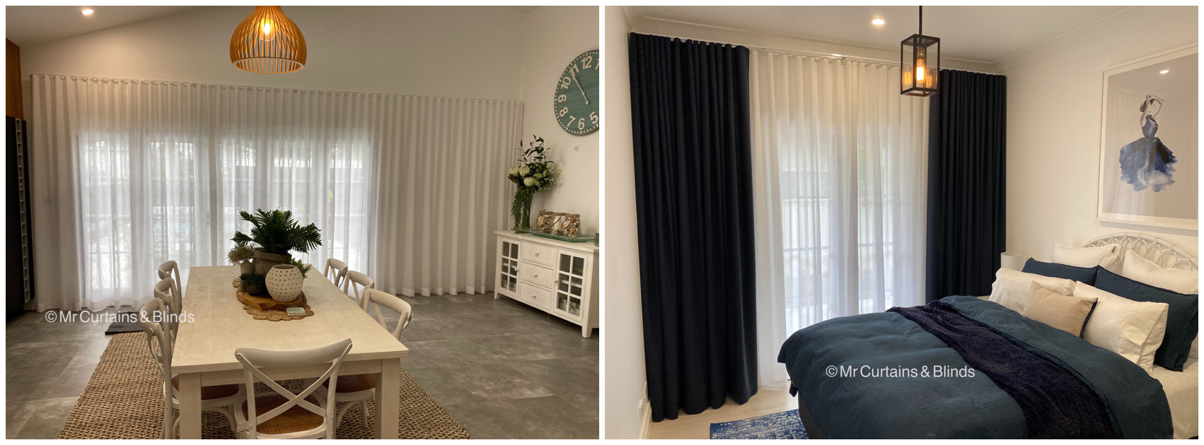 Sfold Sheer and Lined Curtains Mr Curtains and Blinds Central Coast