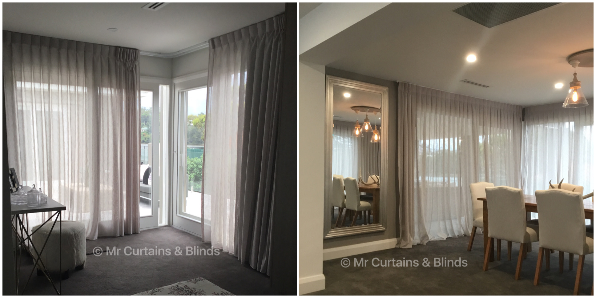 Sheer Curtains Mr Curtains and Blinds Central Coast