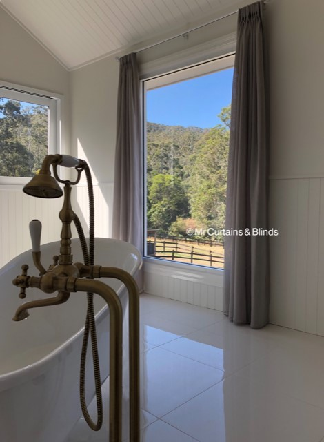 Curtains Palm Grove Central Coast Bathroom Sheer Curtains