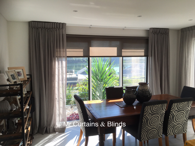 Inverted Pleat Sheer Curtains Roller Blinds Woy Woy Bay 1