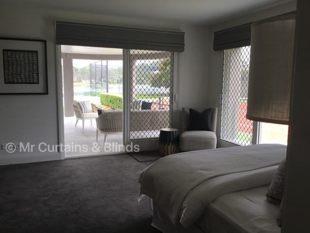 Motorised Roman blinds Terrigal home