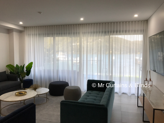 S fold sheer curtains Booker Bay Central Coast
