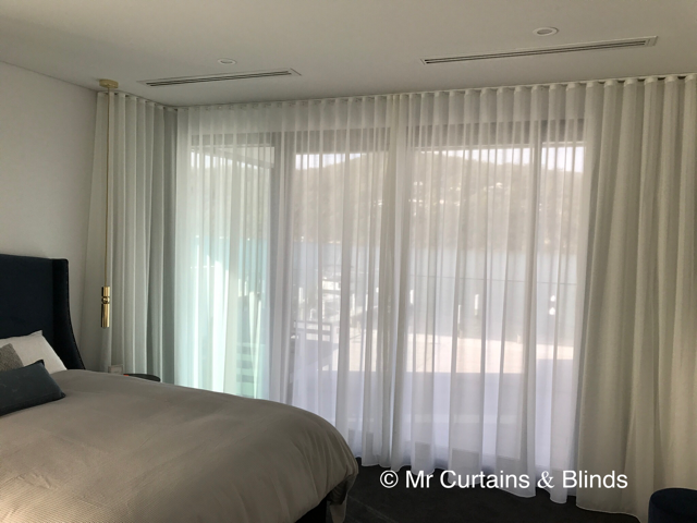 S fold sheer curtains and Blockout lining Booker Bay Central Coast