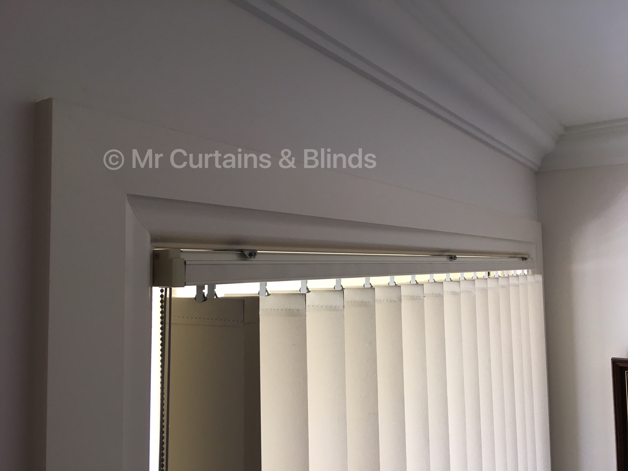 Vertical blind without Pelmet Umina Beach home