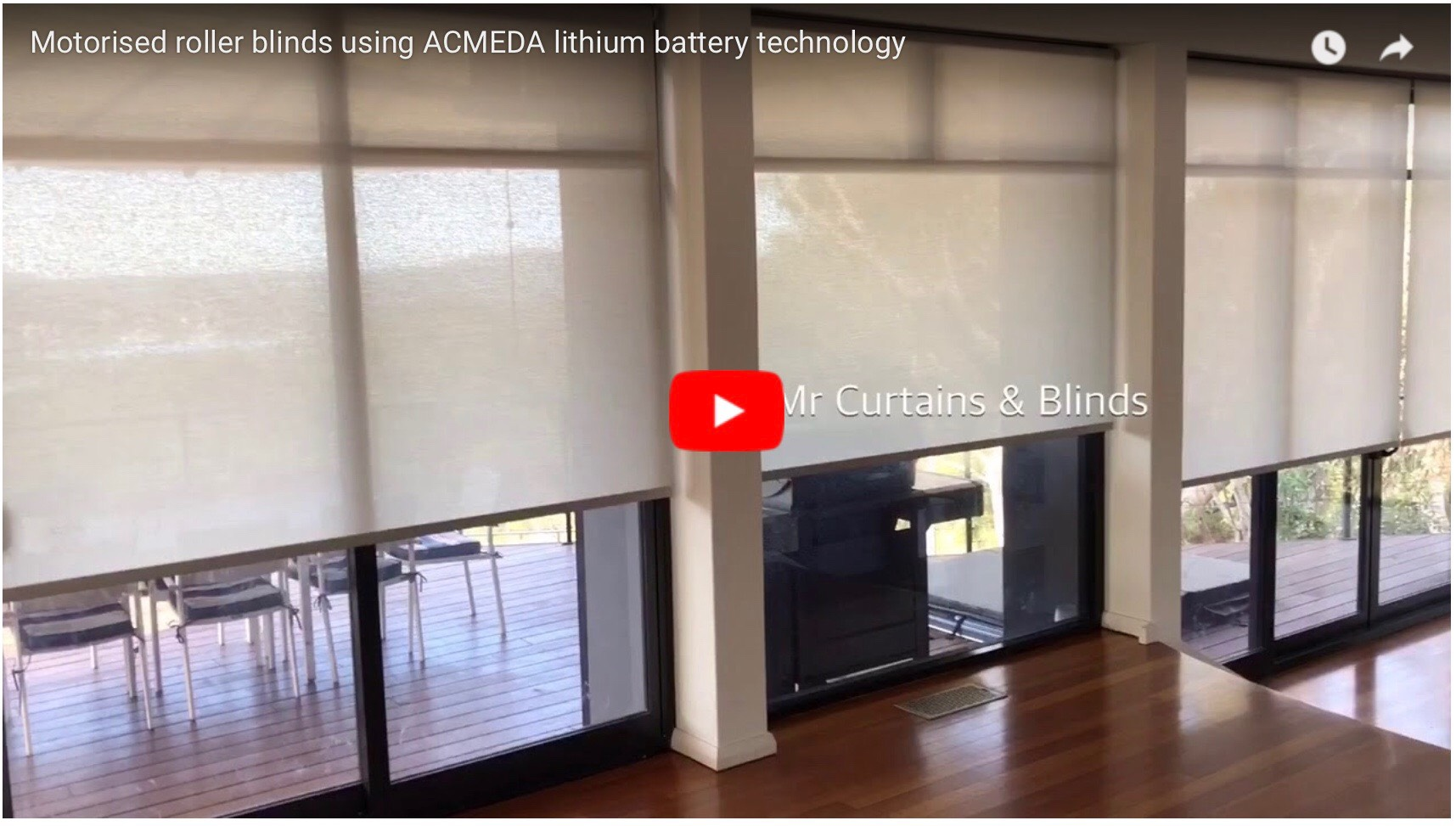 Lithium battery motorised roller blinds Central Coast