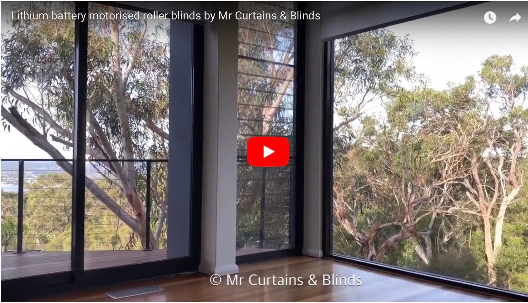Lithium battery motorised roller blinds Central Coast1